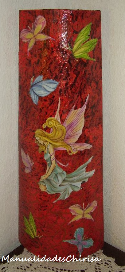 Tejas decoradas manualidades chirisa for Pintura para tejas