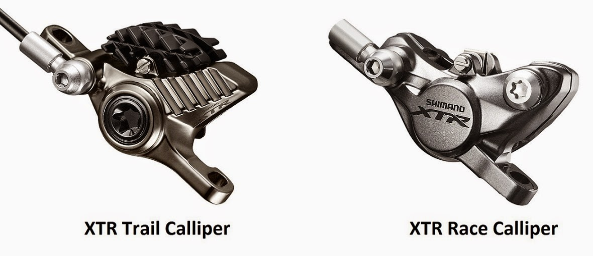 XTR M9020 Trail and XTR M9000 Race callipers