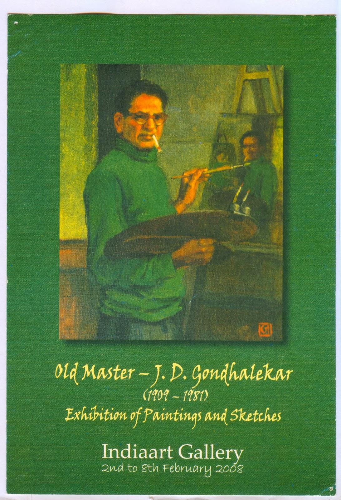 Old Master J D Gondhalekar Indian Art Craft And Photography