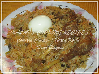 Country Chicken / Nattu Kozhi Dum Biryani
