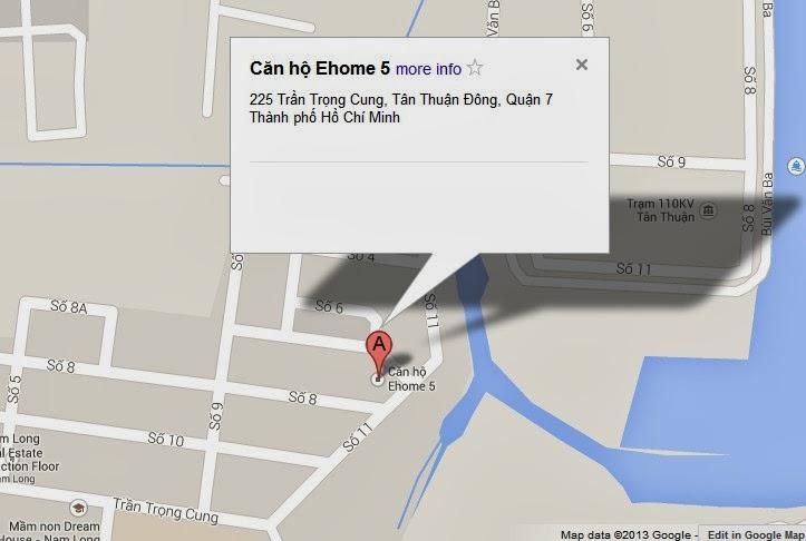 Hình ảnh địa chỉ căn hộ Ehome 5