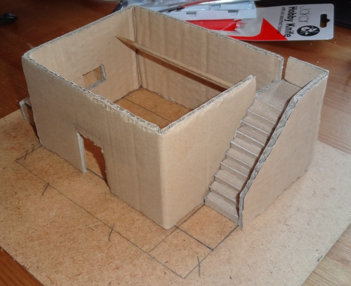 Fantasy Battles Making A Papier Mache Adobe House Wip
