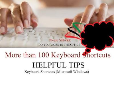 More than 100 Keyboard Shortcuts (Microsoft Windows) 1