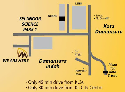 location map Kota Damansara Chocolate Museum