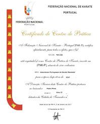 Certificado de Centro de Prática
