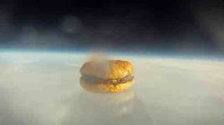 hamburger in space
