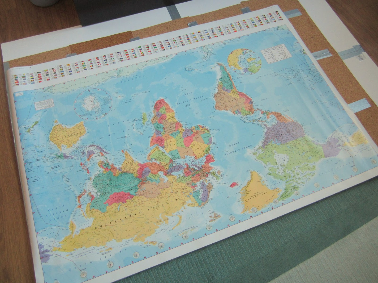 Giant world map pinboard crafty weekend craft projects for the giant world map pinboard crafty weekend craft projects for the weekend gumiabroncs Choice Image