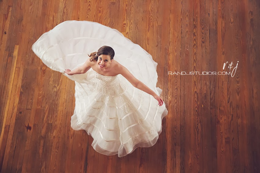 Twirling Bride, Bridal Photos at The Lyceum in Galveston Texas