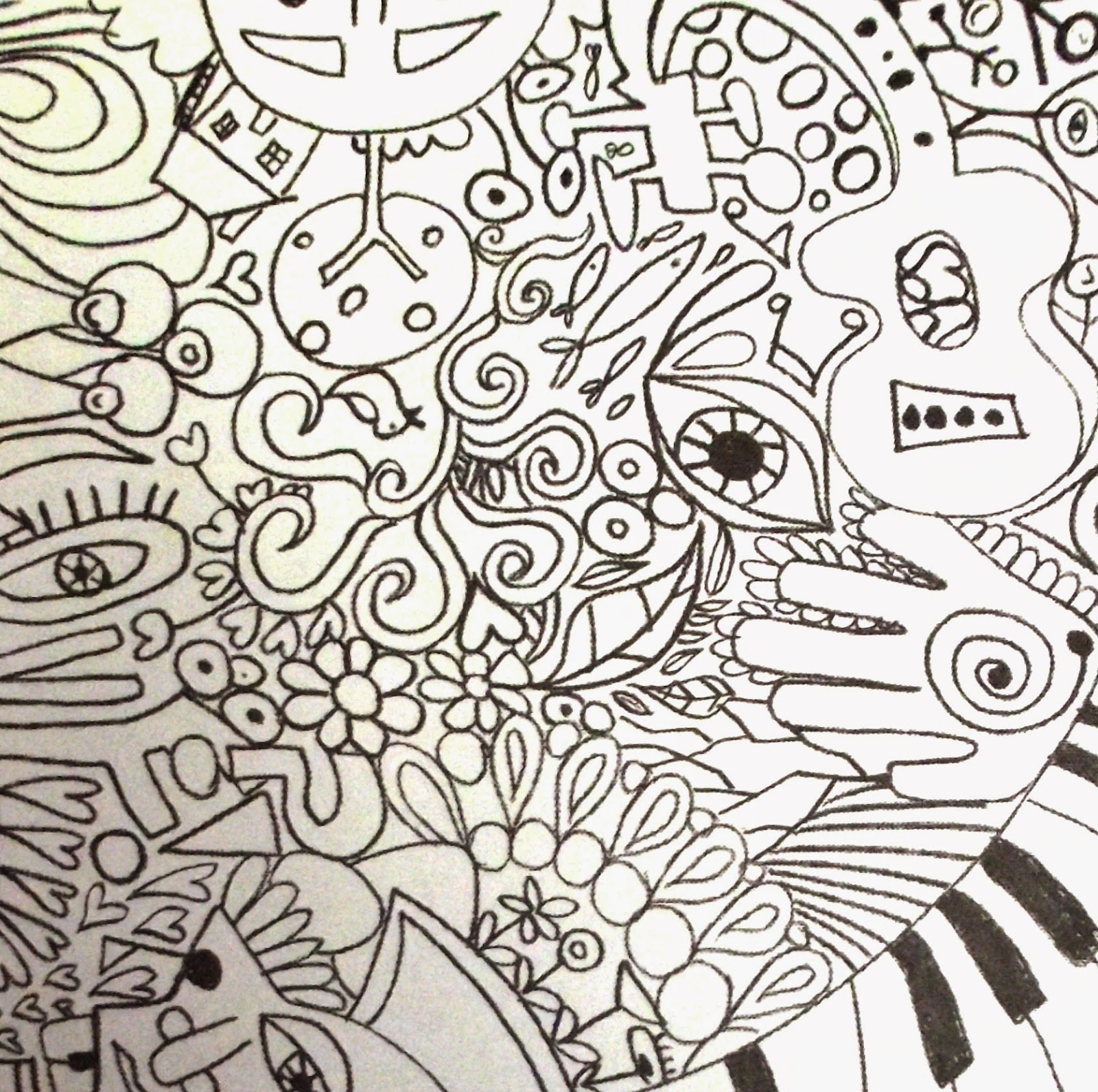Hard Abstract Coloring Pages Printable : Abstract coloring pages for teenagers difficult