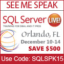 http://sqllive360.com/events/2012/home.aspx?utm_source=AttendeeMktg&utm_medium=BannerAd&utm_campaign=SQLSPK15