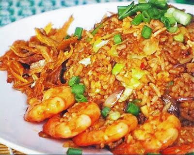nasi goreng udang cumi
