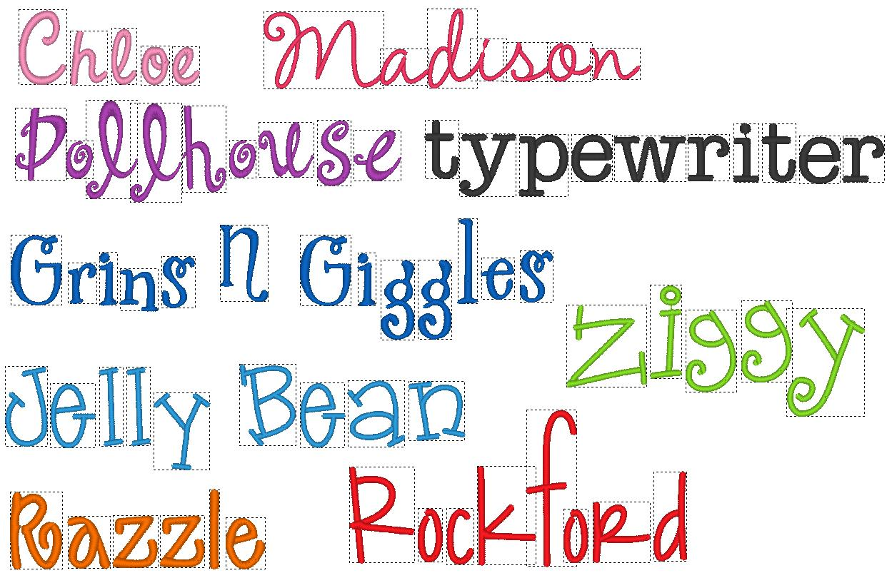Free Hand Embroidery Fonts  Viewing Gallery