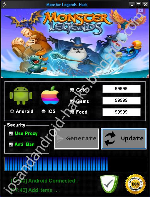 monster legends apk download hack