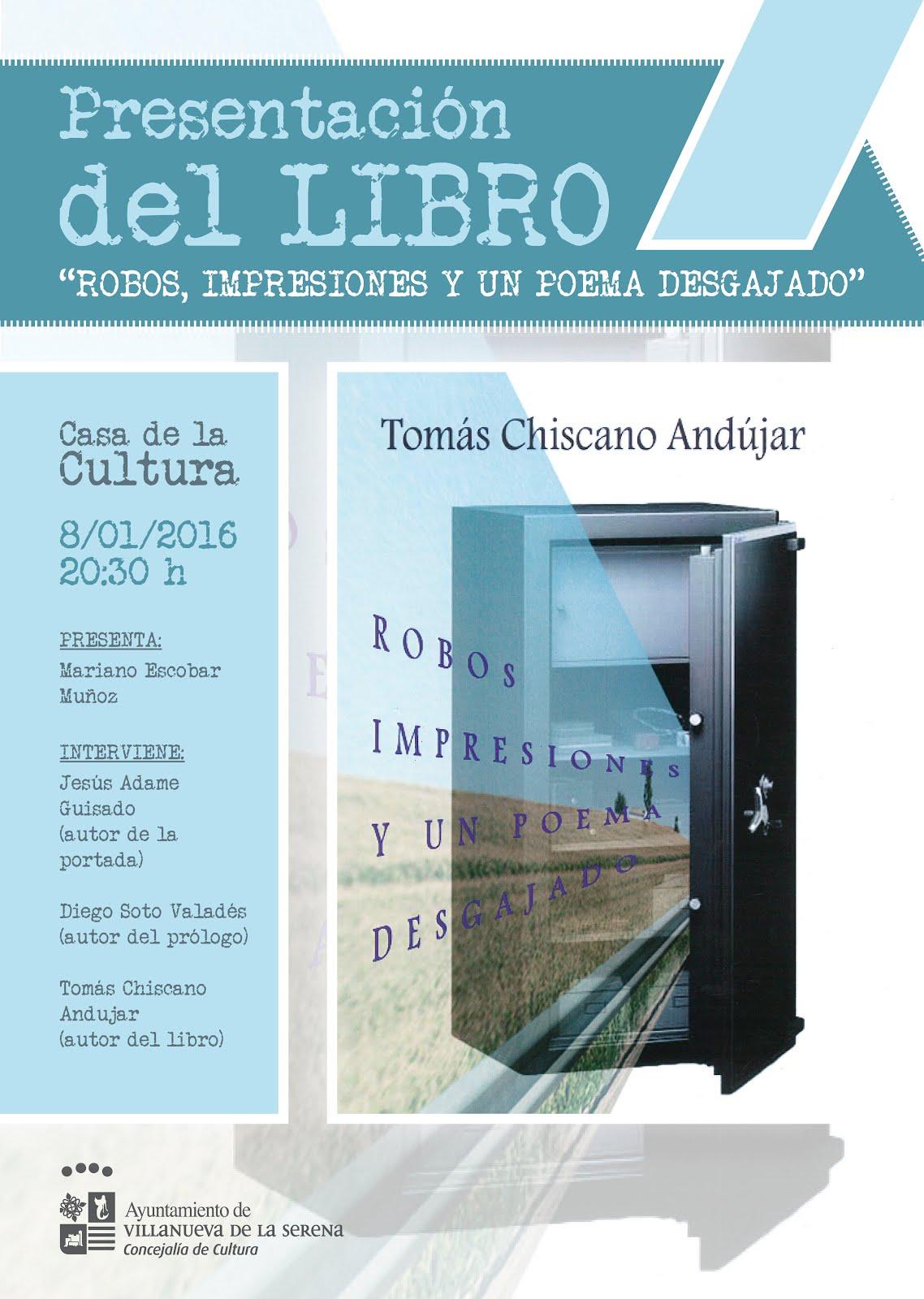 Presentación nuevo libro de Tomás Chiscano