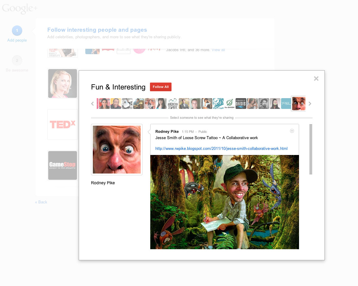 Click here to see Google+'s Suggested Users List