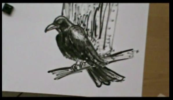 tutorial per disegnare e abbozzare un corvo