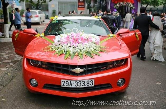Cho thuê xe cưới hạng sang Camaro