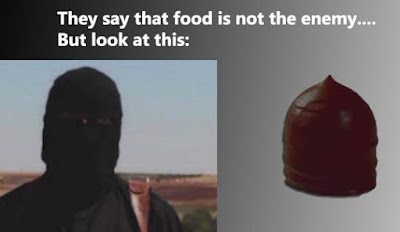 Chocolate-coated marshmallow treat vs. Isis soldier