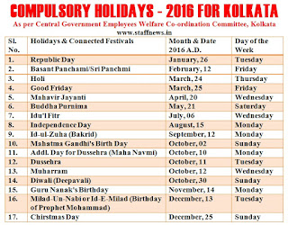 kolkata+holiday+list+2016+calendar