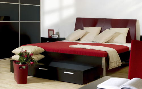 Schwarze und rote Zimmer - Bilder Galerie mit Hausideen Inspirationen