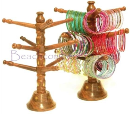 wood tree stand bangle display holder
