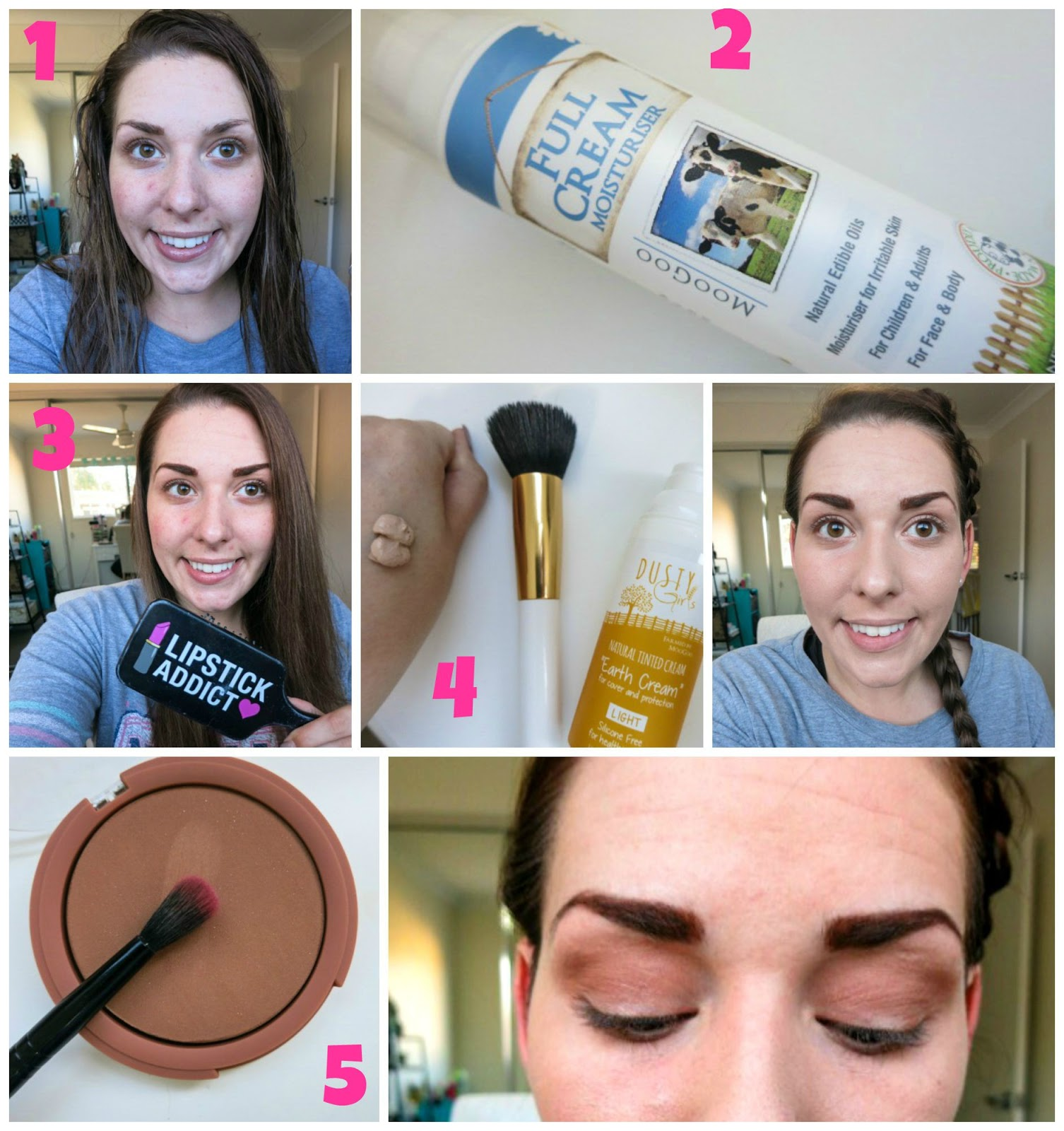 Bows and pleats dusty girls makeup review tutorial dusty girls makeup tutorial baditri Image collections