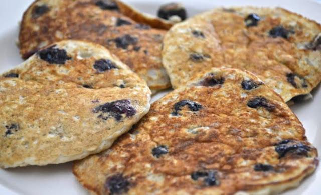Oatmeal Blueberry Pancakes | Don't Eat Less Eat Smart