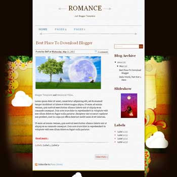 Romance Blogger Template. blogger template from wordpress theme
