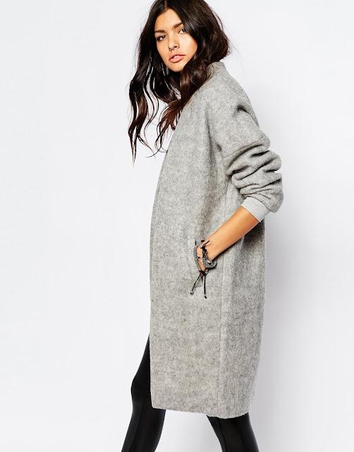 noisy may grey coat, dressing gown coat,