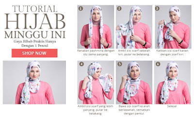 Tutorial Terbaru Model Hijab Remaja Modis