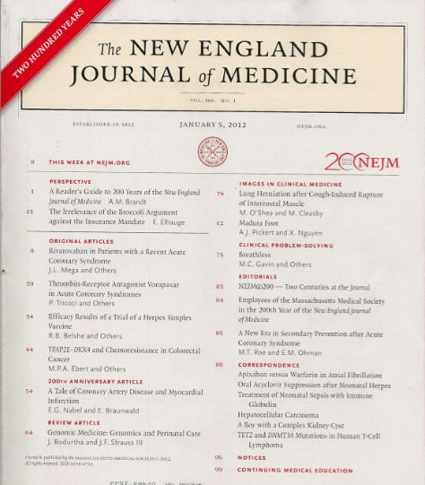 new england journal of medicine essays New england review new england review celebrates forty consecutive years of publishing new voices in poetry, fiction, and essays with a he practices medicine.