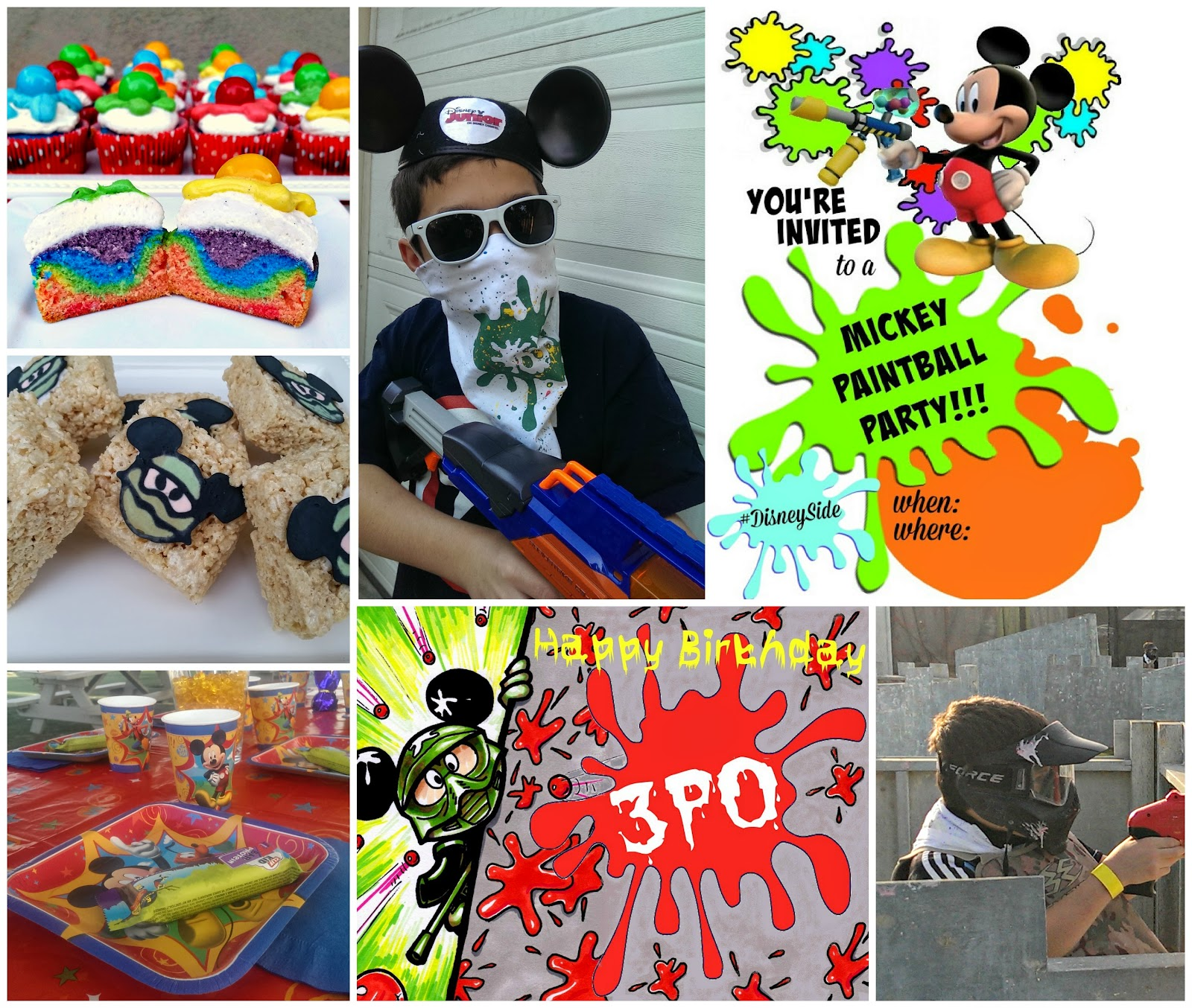 Mickey Paintball party