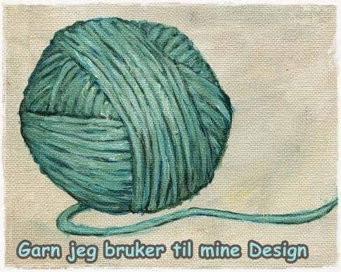 INFO OM GARN JEG BRUKER i mine Design