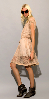 Beige Net Dress