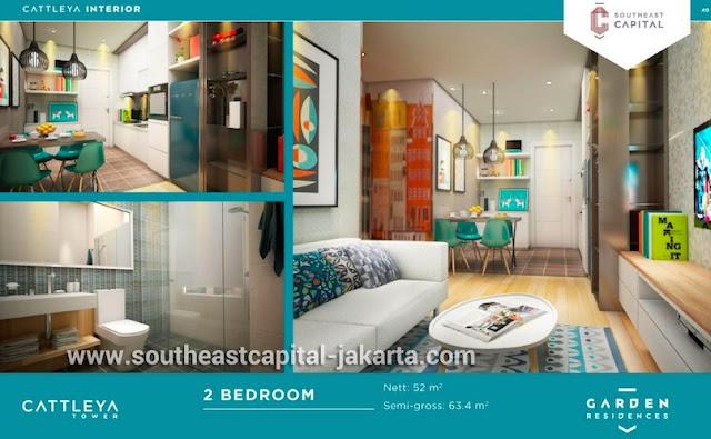 Southeast Capital Jakarta Apartemen 2BR Interior Design