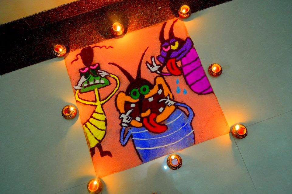 Rangoli Designs for Christmas. Simple and Easy Christmas Rangoli Designs