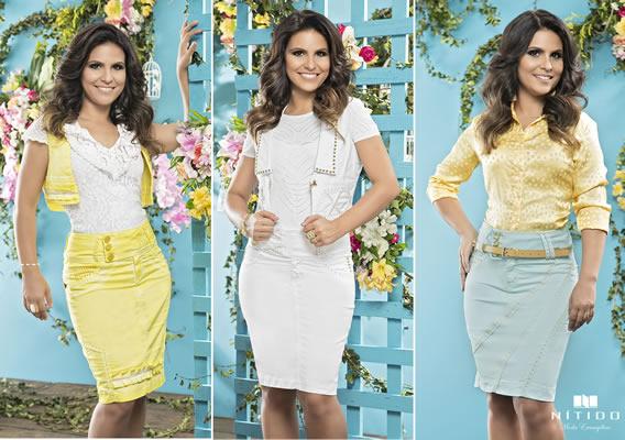 Aline Barros na campanha de Verão 2015 da Nítido Moda Evangélica