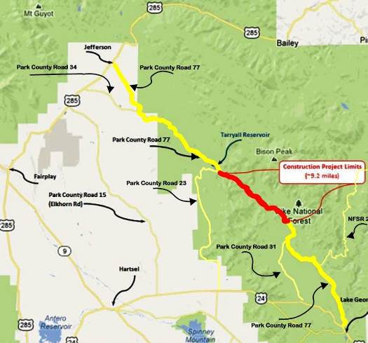 Rocky Mountain Journal: Major Construction Delays on Park County ...