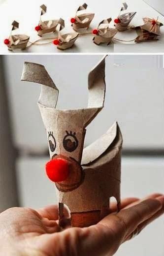 Décoration de Noël avec du Carton Recyclé