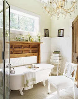 Bathrooms with romantic style