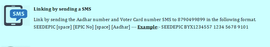 EPIC (Voter) id link with aadhar card seeding image1