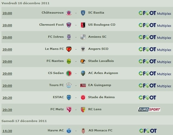 Programme retransmission tv ligue 2 en direct la 17 me - Retransmission foot coupe de la ligue ...