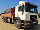 Camiones autocargantes con grua y caja abierta