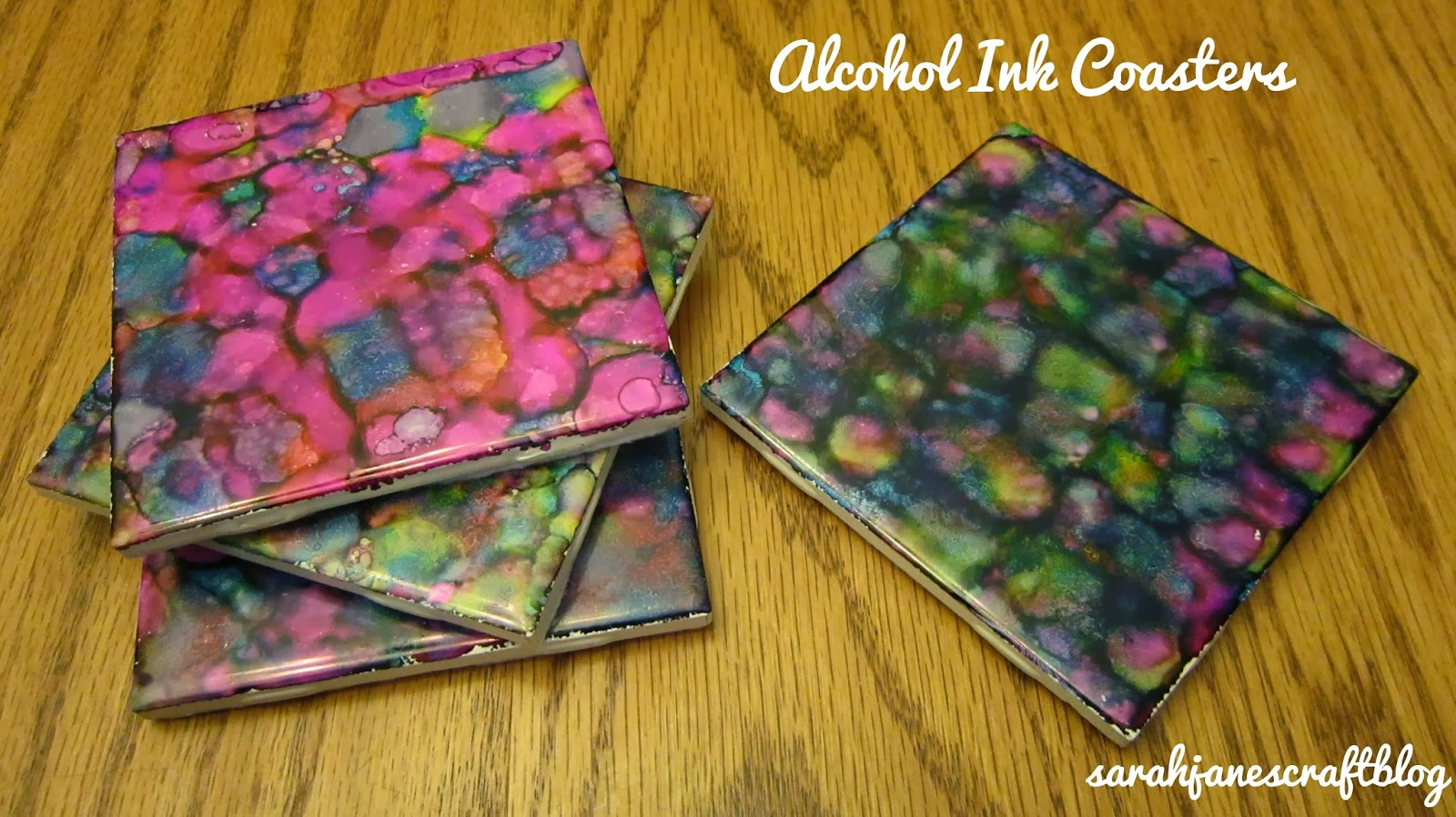 Sarah janes craft blog crafting revisit alcohol ink coasters crafting revisit alcohol ink coasters baditri Images