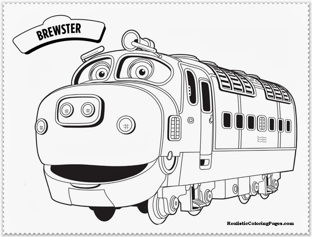 chuggington coloring pages brewster