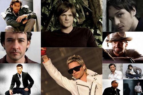 Fotografías de rostros de hombres, actores y artistas
