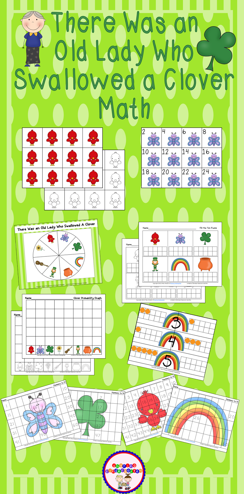 https://www.teacherspayteachers.com/Product/There-Was-an-Old-Lady-Who-Swallowed-a-Clover-Math-205822