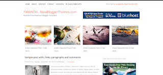 YAMINTH Blogger Template Is a Minimalist Wp To Blogger Converted Free Blogger Template