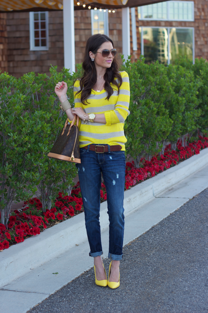 wonderful denim and yellow outfit blue