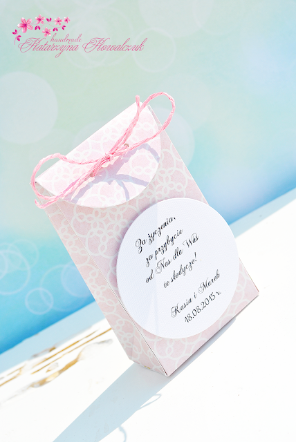pudełeczko, podziękowanie dla gości, galanteria ślubna